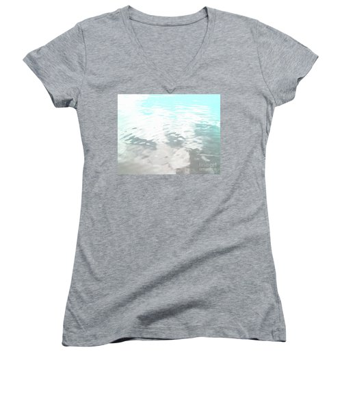 Women's V-Neck T-Shirt (Junior Cut) featuring the photograph Let It Flow by Rebecca Harman