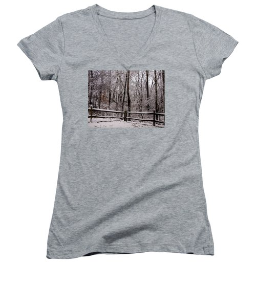 Let It Snow Women's V-Neck (Athletic Fit)