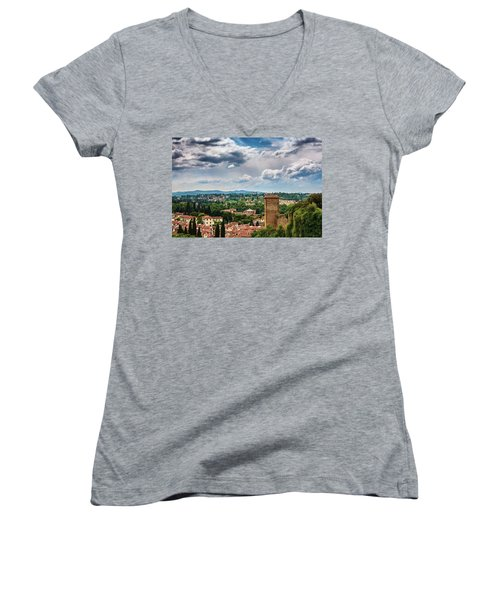 Let Me Travel To Another Era Women's V-Neck