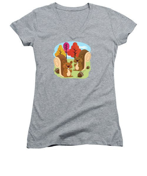 Let The Acorns Fall Women's V-Neck (Athletic Fit)