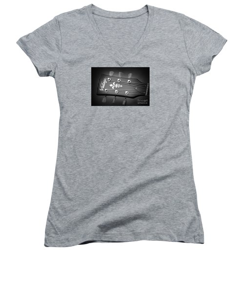 Let The Music Play Women's V-Neck T-Shirt (Junior Cut) by Stephen Melia