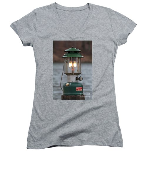 Women's V-Neck T-Shirt (Junior Cut) featuring the photograph Let There Be Light - D010029 by Daniel Dempster