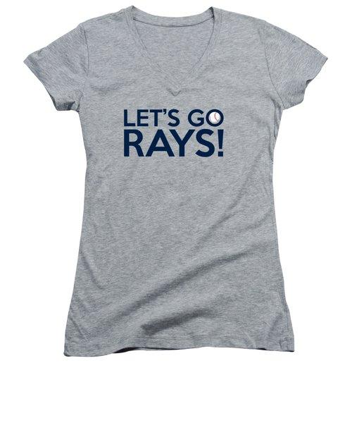 Let's Go Rays Women's V-Neck