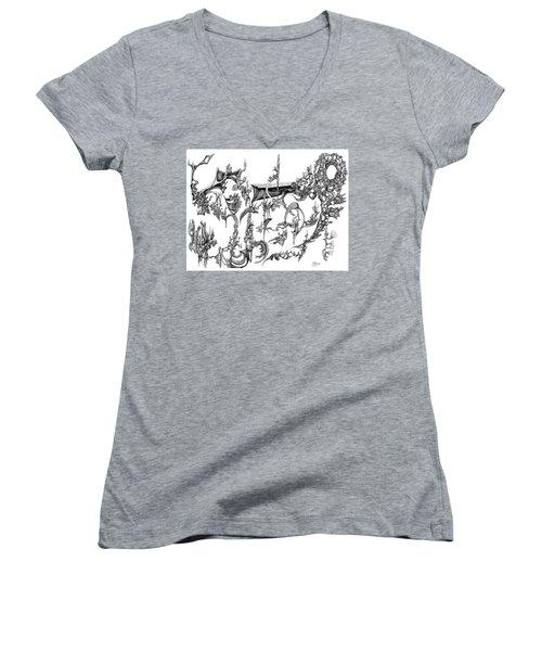 Levitation Women's V-Neck T-Shirt (Junior Cut) by Charles Cater
