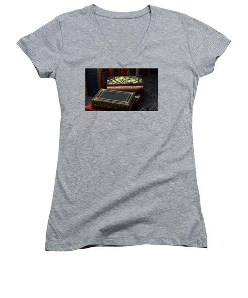 Library Women's V-Neck T-Shirt