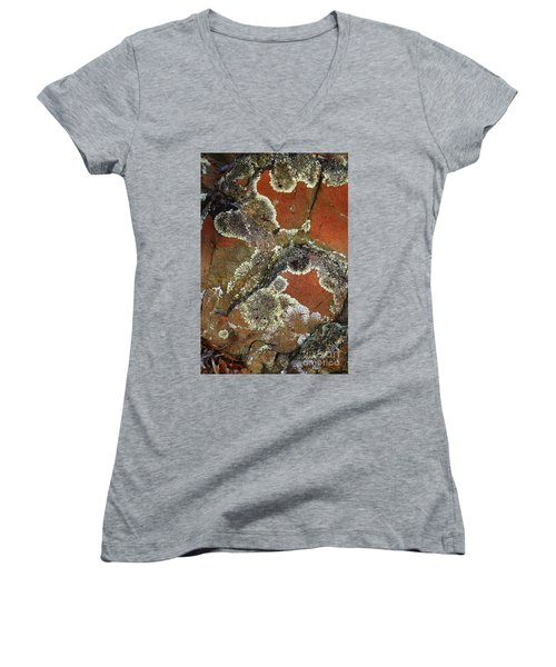 Lichen Abstract Women's V-Neck