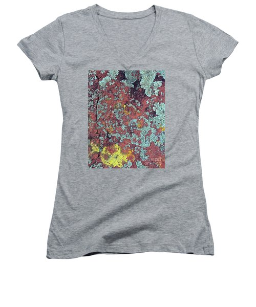 Lichen Colors Women's V-Neck T-Shirt (Junior Cut) by Todd Breitling