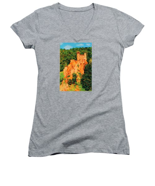 Lichtenstein Castle Women's V-Neck