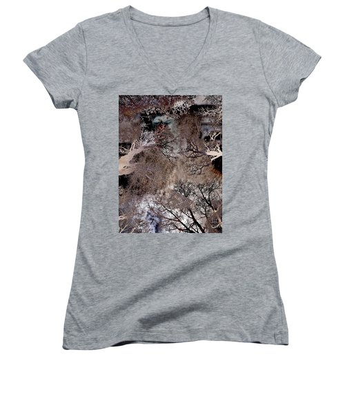 Life In A Bush Of Ghosts Women's V-Neck (Athletic Fit)