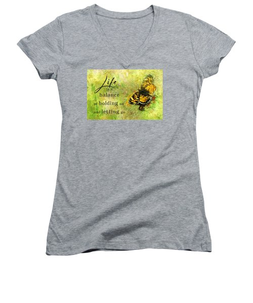 Life Is A Balance Women's V-Neck