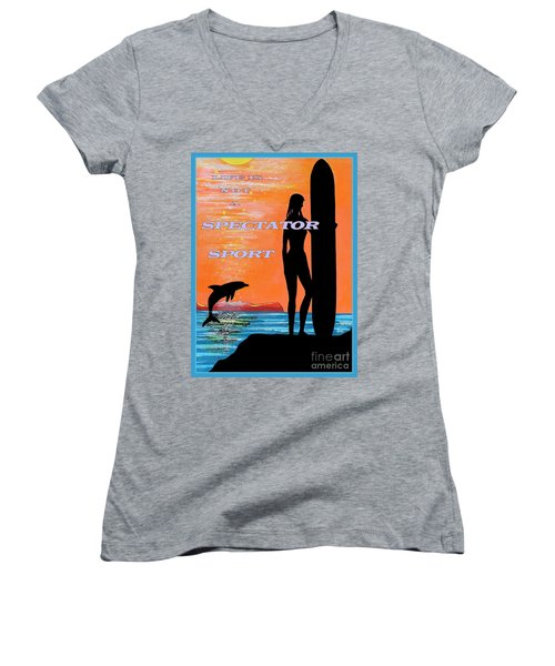 Life Is Not A Spectator Sport Women's V-Neck (Athletic Fit)