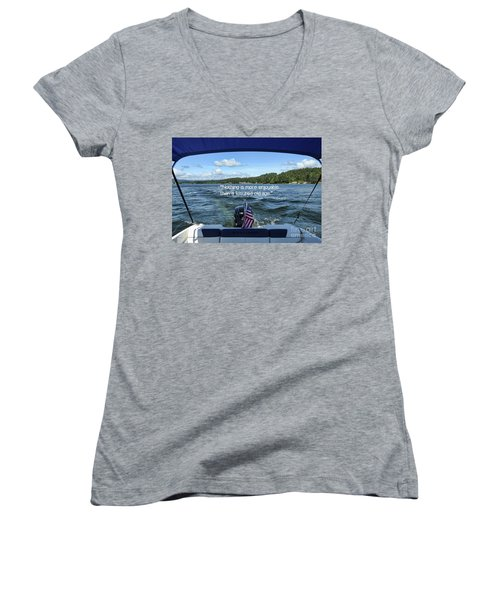 Women's V-Neck T-Shirt featuring the photograph Life Of Leisure by Peggy Hughes