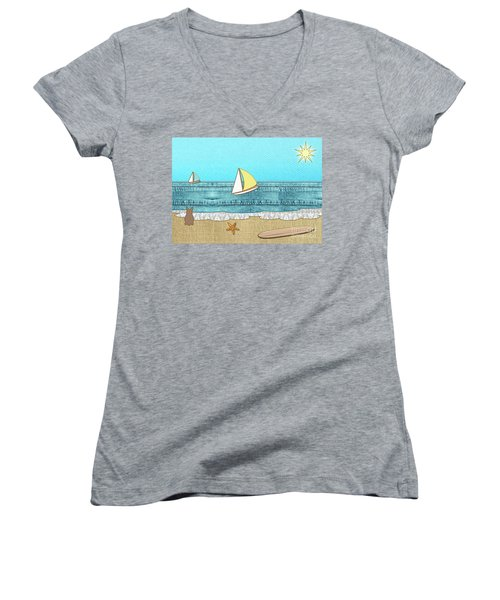Life's A Beach Women's V-Neck