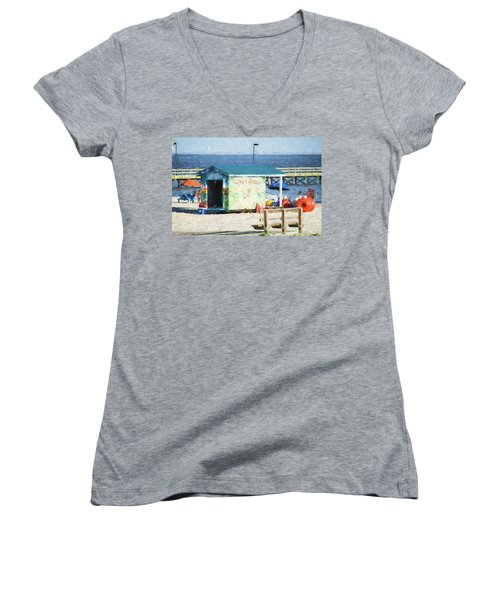 Life's A Beach Women's V-Neck T-Shirt
