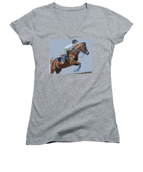 Horse Jumper Women's V-Neck (Athletic Fit)