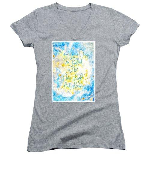 Light And Love Women's V-Neck T-Shirt