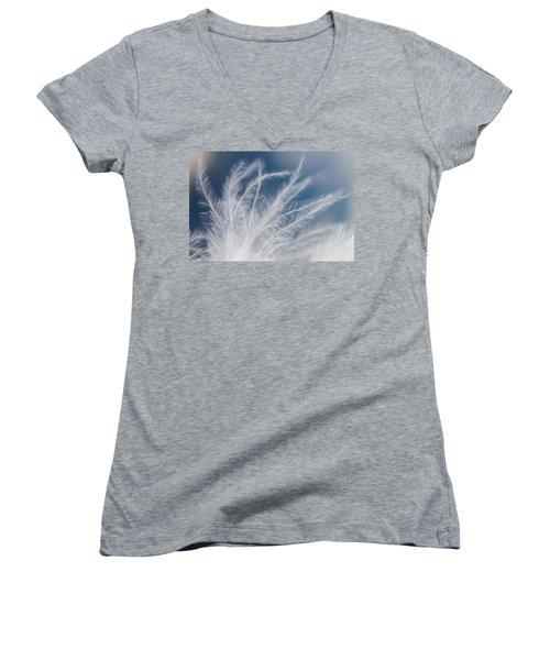 Light As A Feather Women's V-Neck T-Shirt (Junior Cut) by Yvette Van Teeffelen