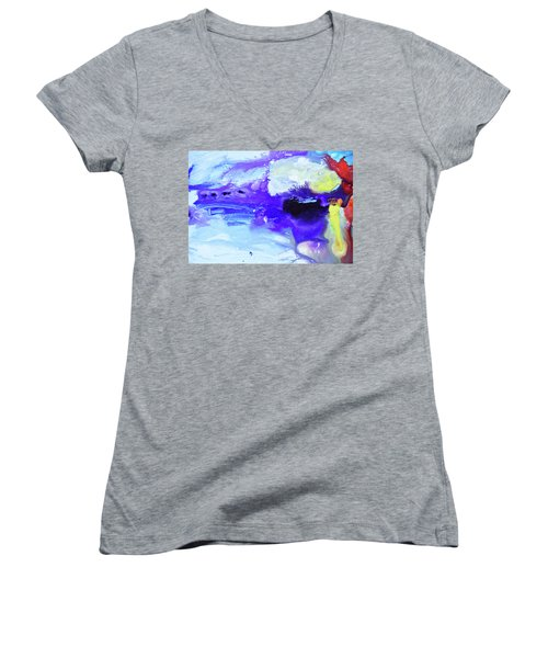 Light Being Women's V-Neck T-Shirt (Junior Cut) by Amara Dacer