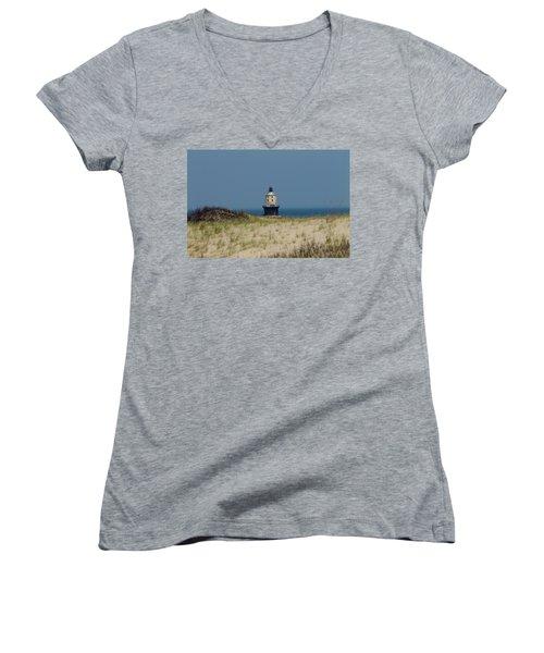 Light House At The Cape Women's V-Neck T-Shirt