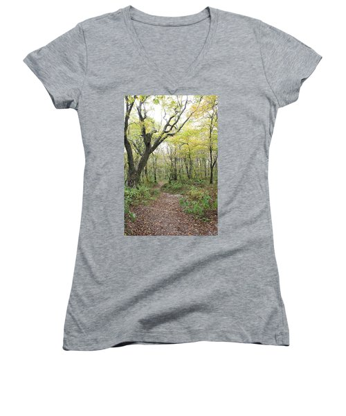 Light On Path Women's V-Neck T-Shirt