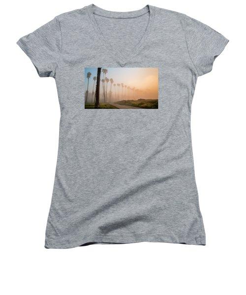 Lighter Longer Women's V-Neck T-Shirt (Junior Cut) by Sean Foster