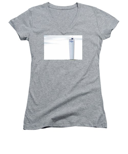 Women's V-Neck (Athletic Fit) featuring the photograph Lighthouse At Cape Jervis by Stephen Mitchell