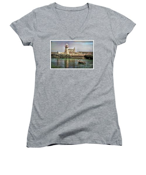 Lighthouse At Howth, Ireland Women's V-Neck (Athletic Fit)