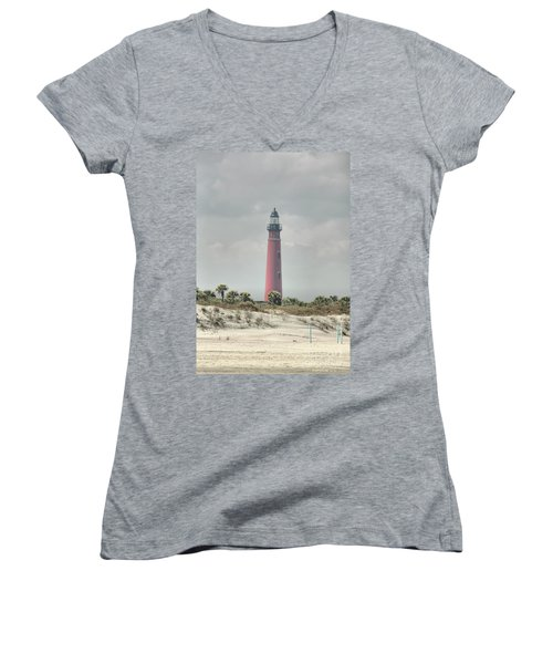 Lighthouse At Ponce Inlet Women's V-Neck