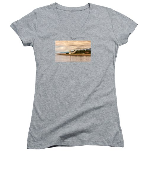 Lighthouse In The Highlands Women's V-Neck (Athletic Fit)