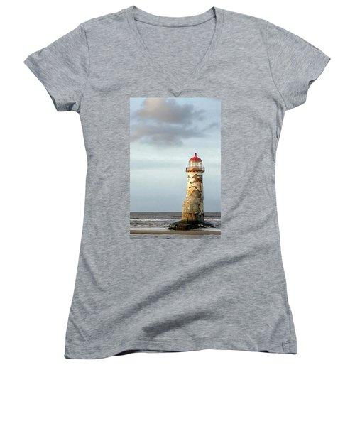Lighthouse Revisited Women's V-Neck T-Shirt