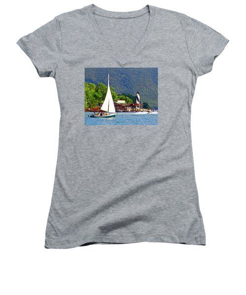 Lighthouse Sailors Smith Mountain Lake Women's V-Neck (Athletic Fit)