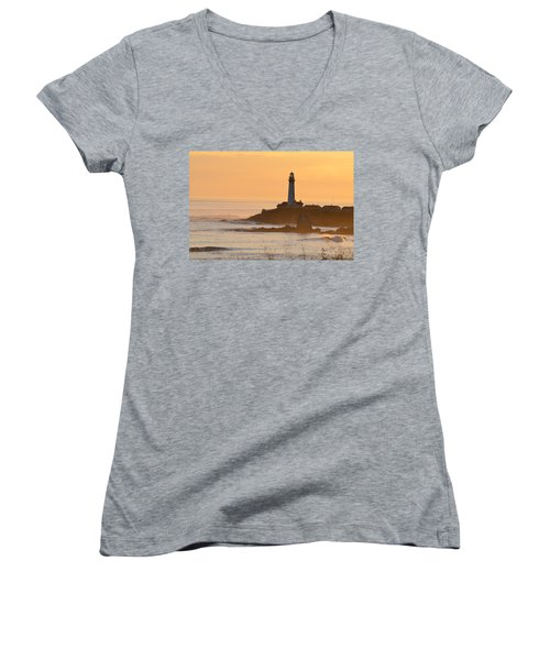 Lighthouse Sunset Women's V-Neck T-Shirt
