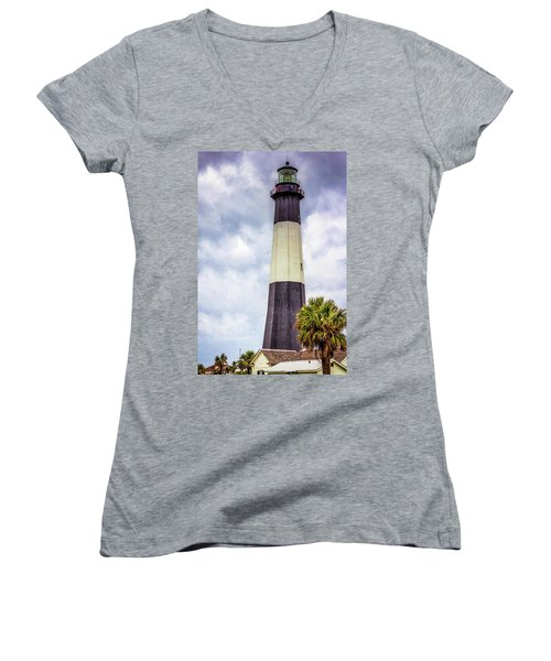 Lighthouse - Tybee Island, Georgia Women's V-Neck