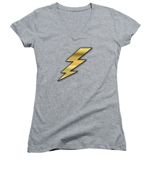 Lightning Transparent Women's V-Neck T-Shirt