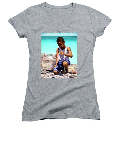 Lil Fisherman Women's V-Neck