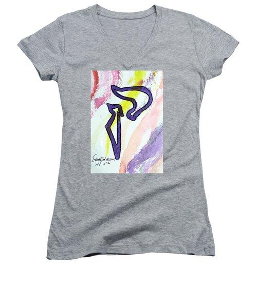 Lilac Kuf Women's V-Neck