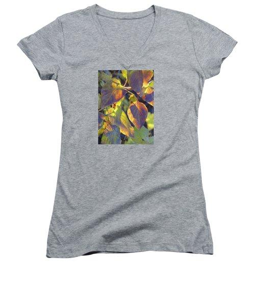 Lilac Leaves Women's V-Neck
