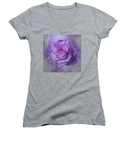 Lilac Purple Rose Women's V-Neck