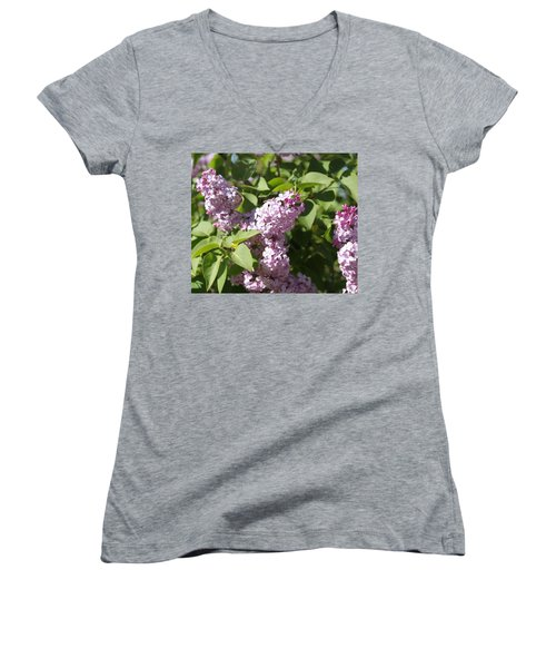 Women's V-Neck featuring the photograph Lilacs 5544 by Antonio Romero