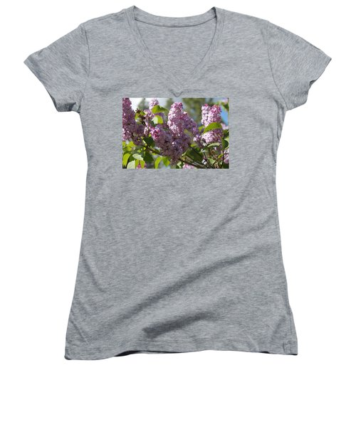 Women's V-Neck featuring the photograph Lilacs 5548 by Antonio Romero