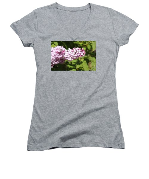 Women's V-Neck featuring the photograph Lilacs 5550 by Antonio Romero