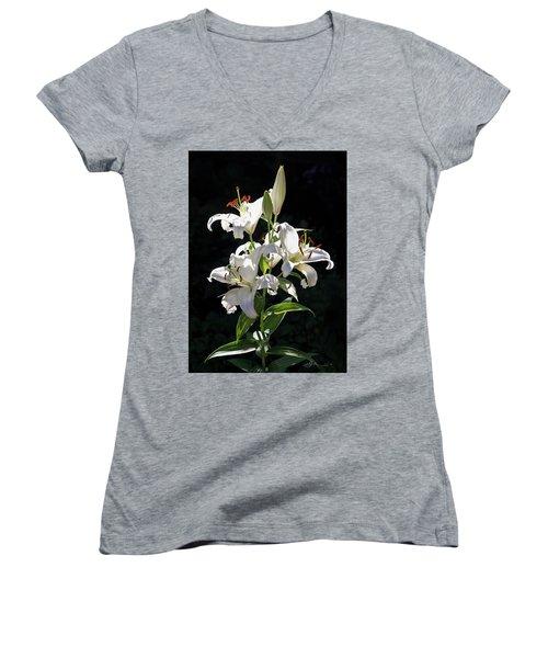 Lilies In The Sun Women's V-Neck T-Shirt