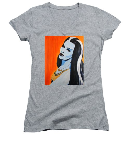 Lily Munster - Yvonne De Carlo Women's V-Neck (Athletic Fit)