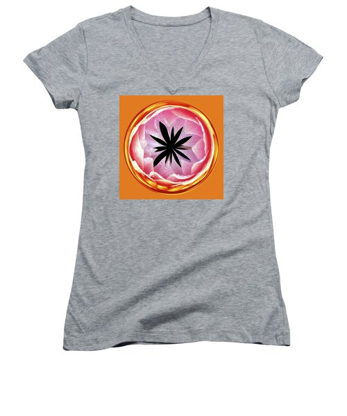 Lily Orb Women's V-Neck T-Shirt