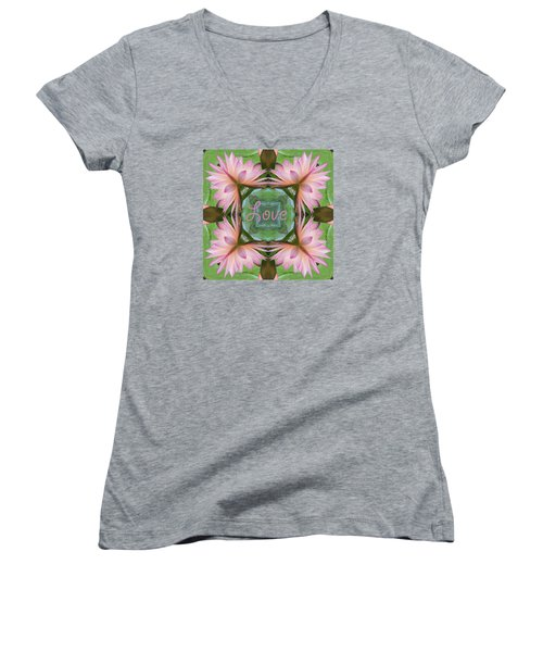 Lily Pad Love Women's V-Neck