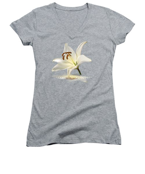 Lily Trumpet Women's V-Neck T-Shirt