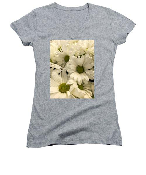Lime Center Women's V-Neck T-Shirt (Junior Cut) by Arlene Carmel