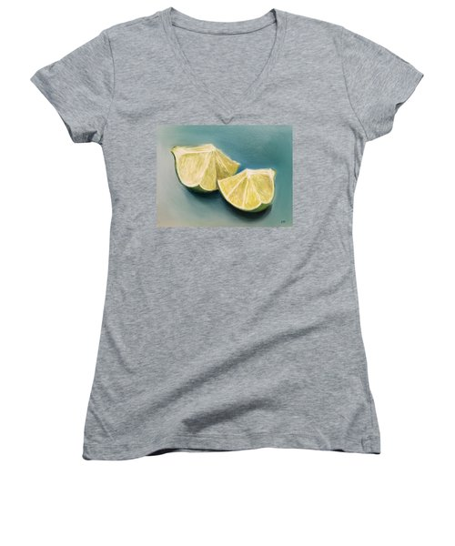 Limes Women's V-Neck (Athletic Fit)