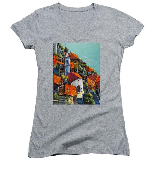 Limone Del Garda Women's V-Neck T-Shirt