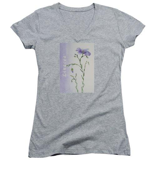 Linacea Women's V-Neck T-Shirt (Junior Cut) by Ruth Kamenev